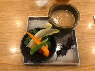 Bagna cauda with Bluefin tuna broth (Shuya)